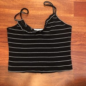 Lush Striped Ribbed Tank Top